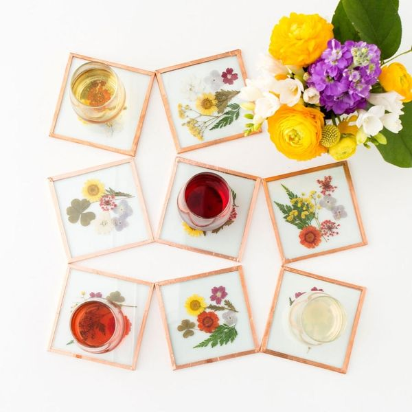 DIY These Pretty Coasters Instead of Buying Flowers for Mom