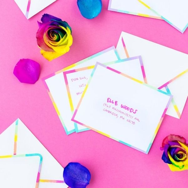 What to Make This Weekend: Rainbow Stationery, Pom Pom Headband + More