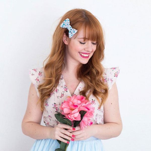 DIY This Spring Hair Bow in Less Than 20 Minutes
