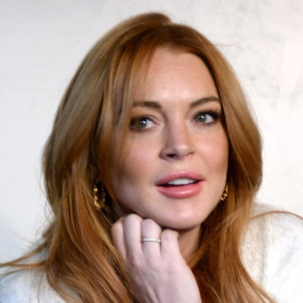 Lindsay Lohan Shows Off Her (GIANT) Non-Traditional Engagement Ring