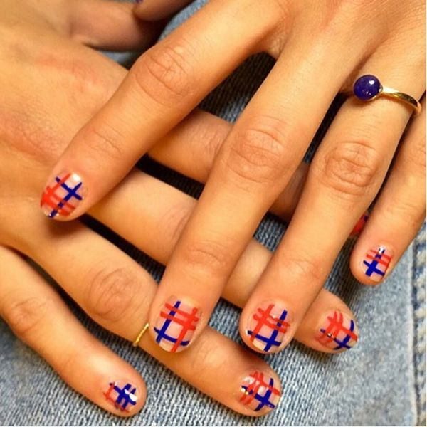 10 Plaid Nail Art Designs Perfect for PSL Selfies