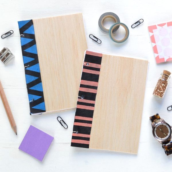 Make an Effortlessly Adorable Notebook With Wood and Leather