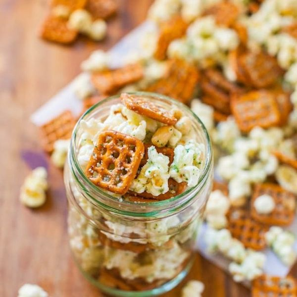 Here are our top ideas for easy snacks to make starting with this Parmesan Ranch Snack Mix.