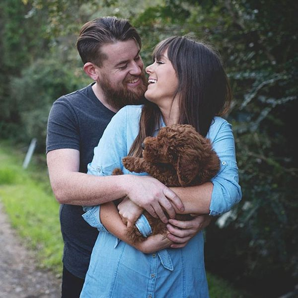 The Reason Why This Couple Did a Newborn Photo Shoot With Their Puppy Is Genius