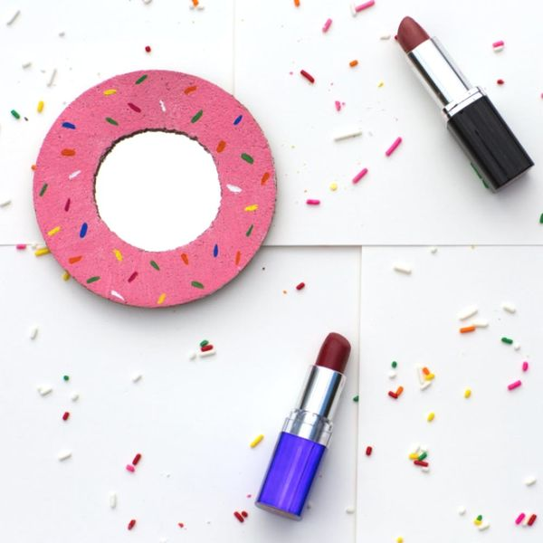 Sweeten Up Your Beauty Routine With a DIY Donut Mirror
