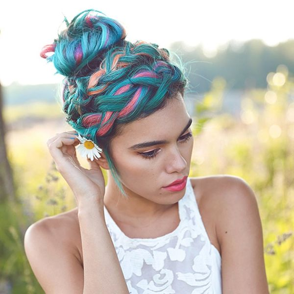 15 Gorgeous Ways to Style Rainbow Hair