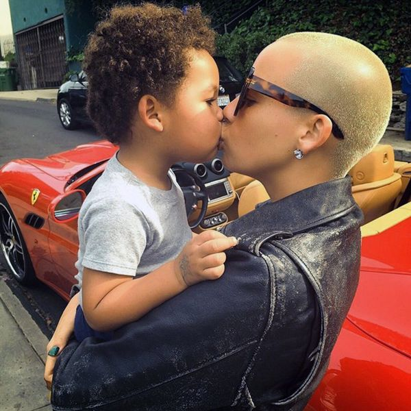 Watch Amber Rose Teach Her 2-Year-Old Son Adorable Lessons on Instagram