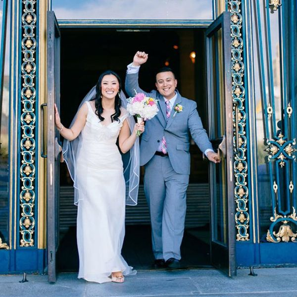 Get the DIY Details of This Multi-Cultural City Hall Wedding
