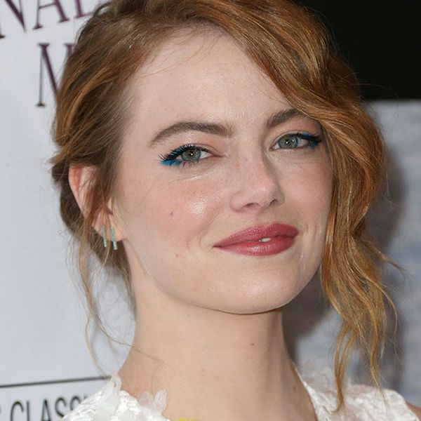 How to Pull Off Emma Stone's Chic Neon Eye Makeup