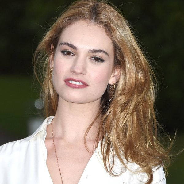 Lily James Doesn't Look like Cinderella Anymore With This New 'Do
