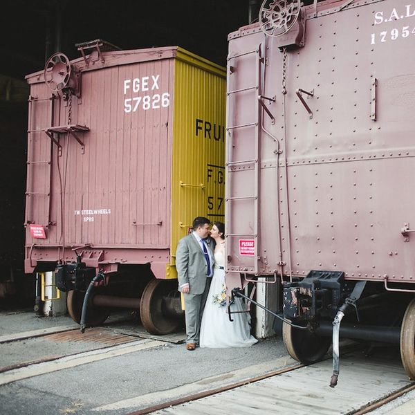 All Aboard This Gorgeous Vintage DIY Railroad Wedding