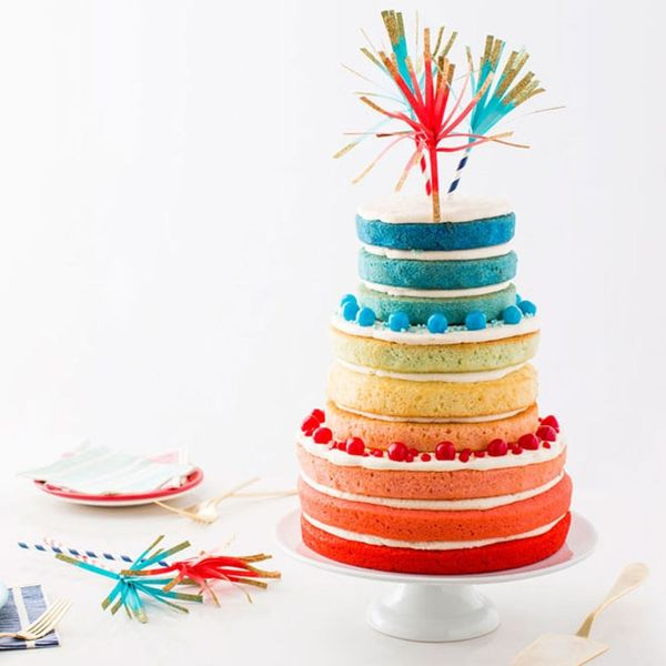 Your Friends Will Freak Over This Epic 9-Layer Red, White and Blue Cake Recipe