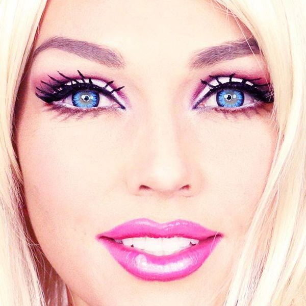See This Makeup Artist Transform Herself Into a Living Barbie in 90 Seconds