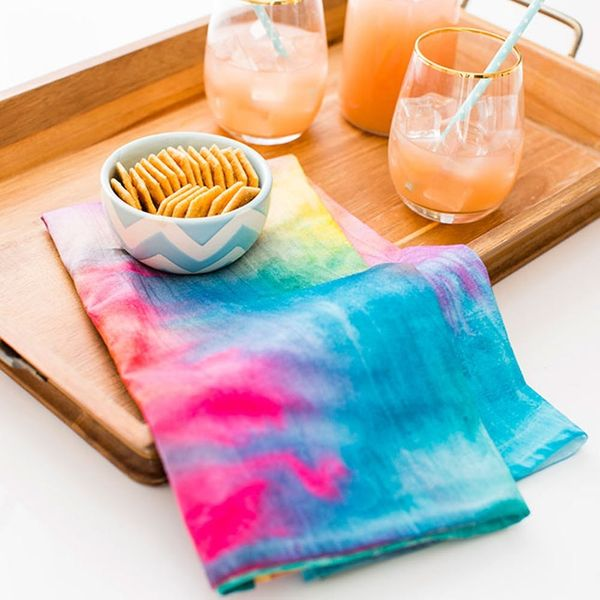 How to Make Easy Watercolor Linens That Won't Wash Out