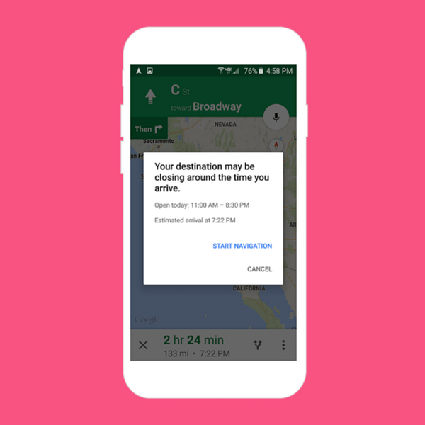 Google Maps' New Feature Will Save You from Being Late