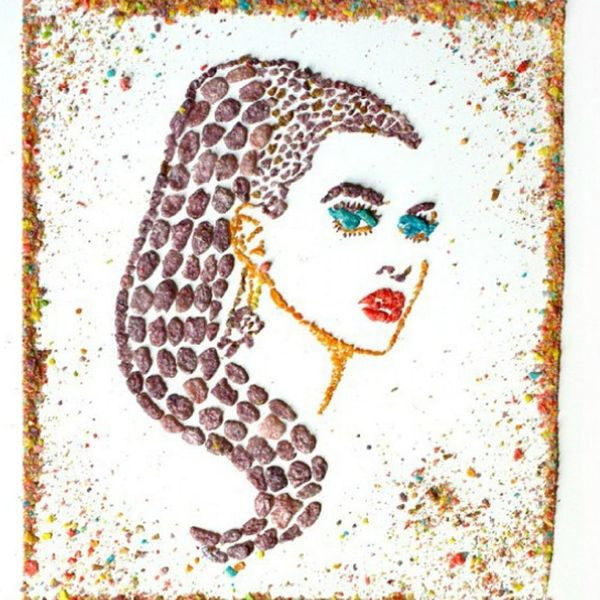 This Artist Makes LOL-Worthy Celeb Portraits Out of Cereal