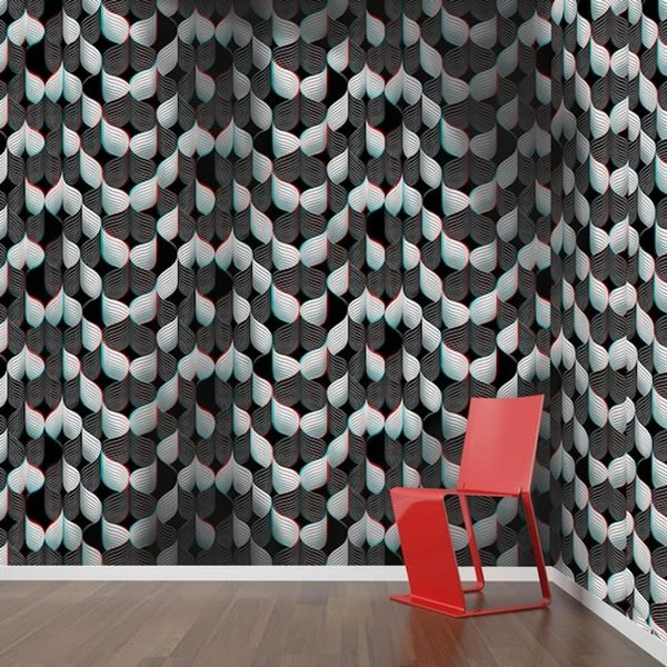 This New 3D Wallpaper Is like Magic Eye for Your Home