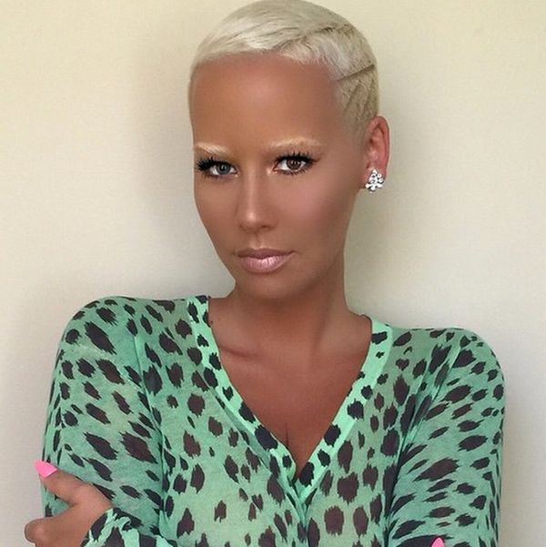 Amber Rose Will Make You Want to Try This New Eyebrow Trend