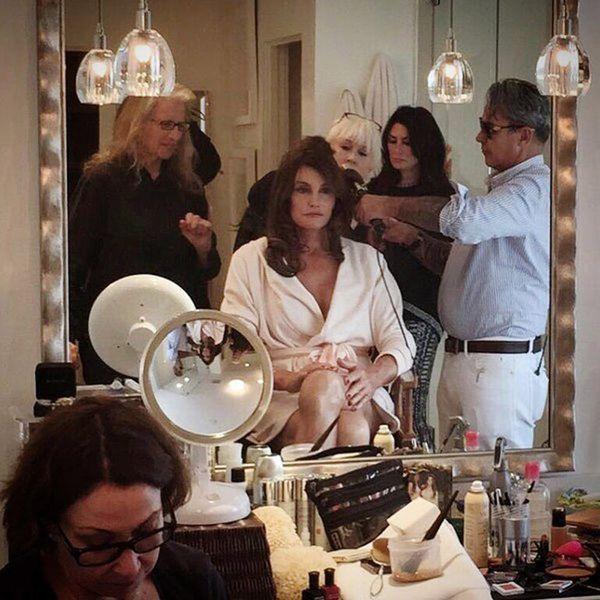 Get a Behind-the-Scenes Look at Caitlyn Jenner's Vanity Fair Beauty Prep