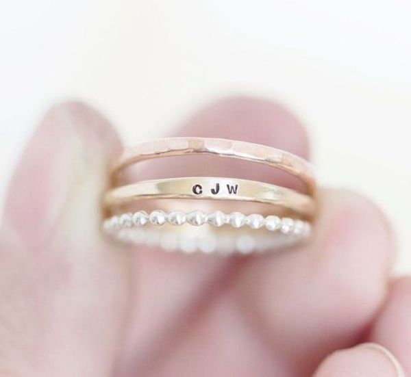 11 Ideas for Personal Wedding Bands