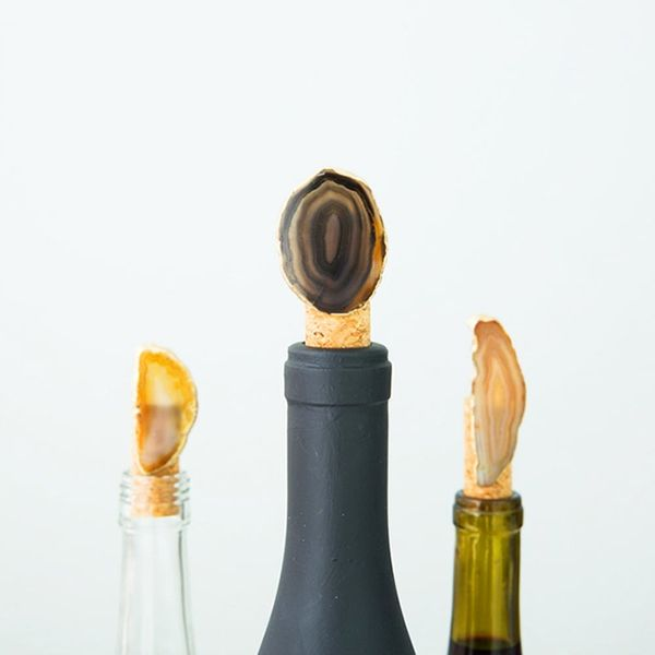 How to Make Gold-Leaf Agate Bottle Stoppers in Under 5 Minutes