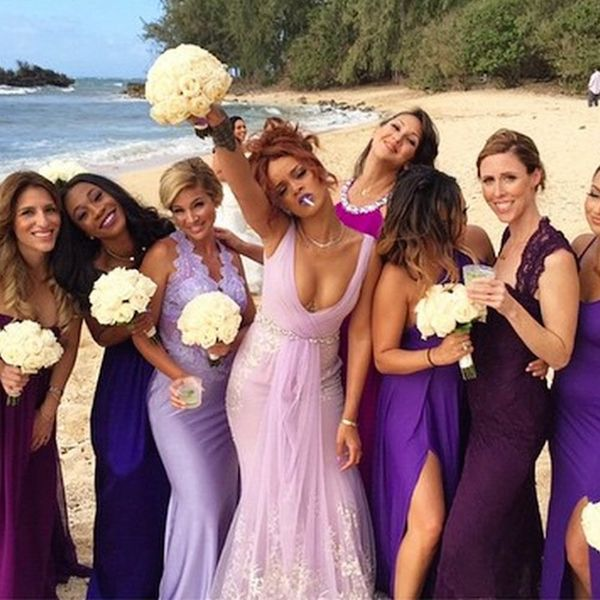 Rihanna Was Just a Bridesmaid at the Coolest Wedding Ever