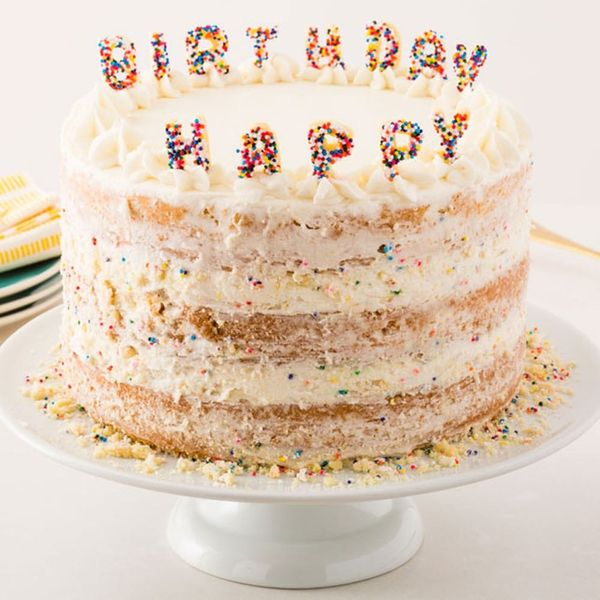 Get Happy With Our Sugar Cookie Funfetti Birthday Cake
