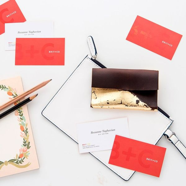 How to Make a #Girlboss-Approved Gold-Leaf Business Card Holder