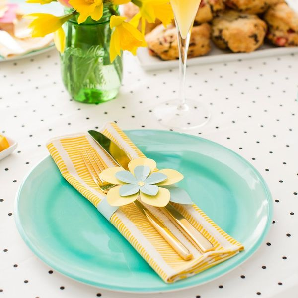 Elevate Your Easter Table With Last Minute Paper Flower Napkin Rings