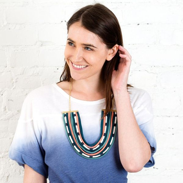 How to Turn Old T-Shirts into a Gorg Statement Necklace