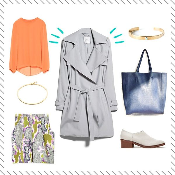 Style Resolutions: How to Style a Trench Coat + Nail Transitional Weather Dressing