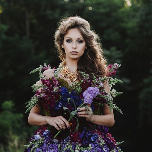 This Fairytale Gown Is Made Completely Out of Flowers