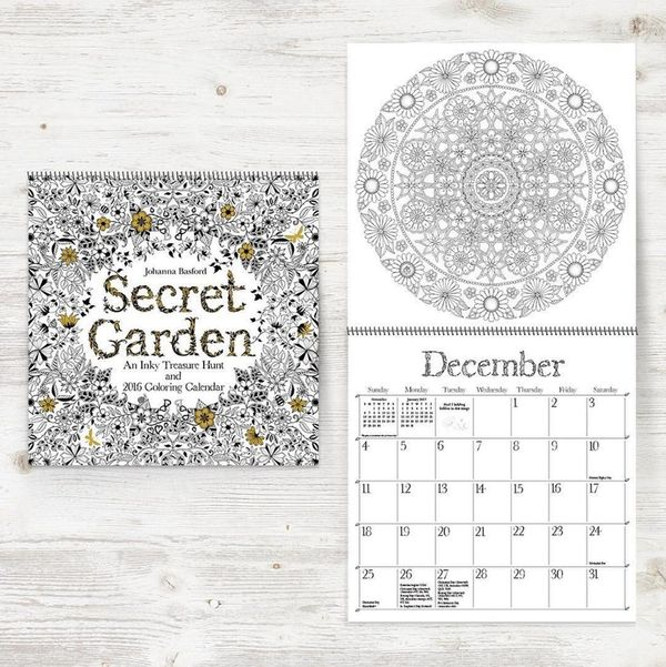 Johanna Basford's New Coloring Book Calendar Is the Perfect Way to Start 2016