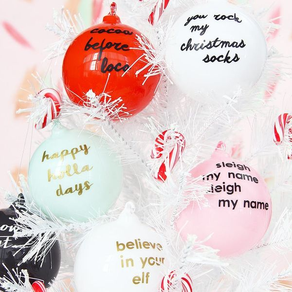 These Punny Ornaments Are Exactly What Your Tree Needs
