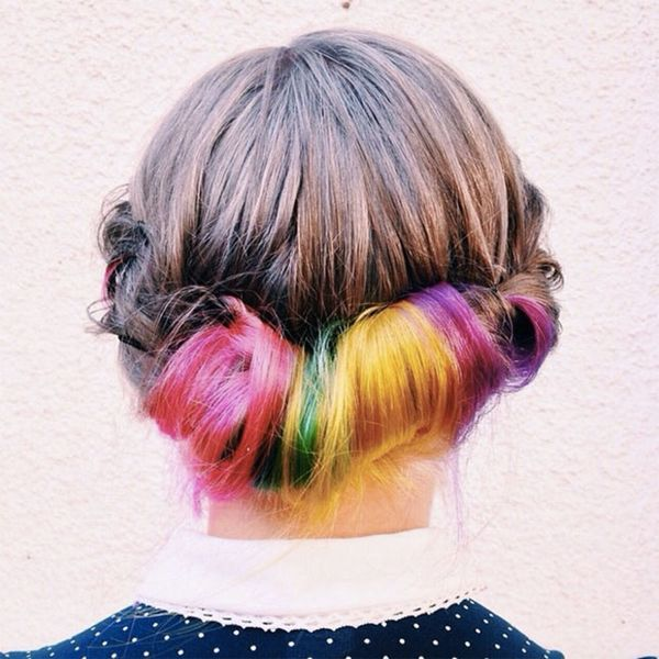 Secret Rainbow Hair Is the Crazy Color Trend MADE for Preppy Girls