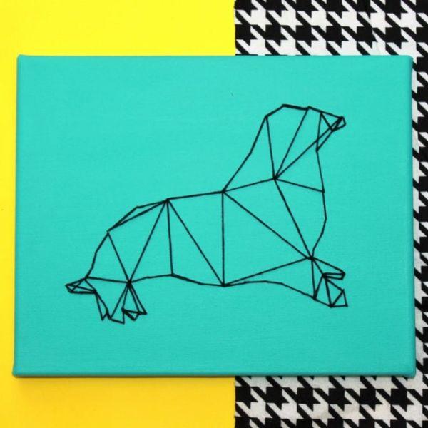How to Make Geometric Animal String Wall Art