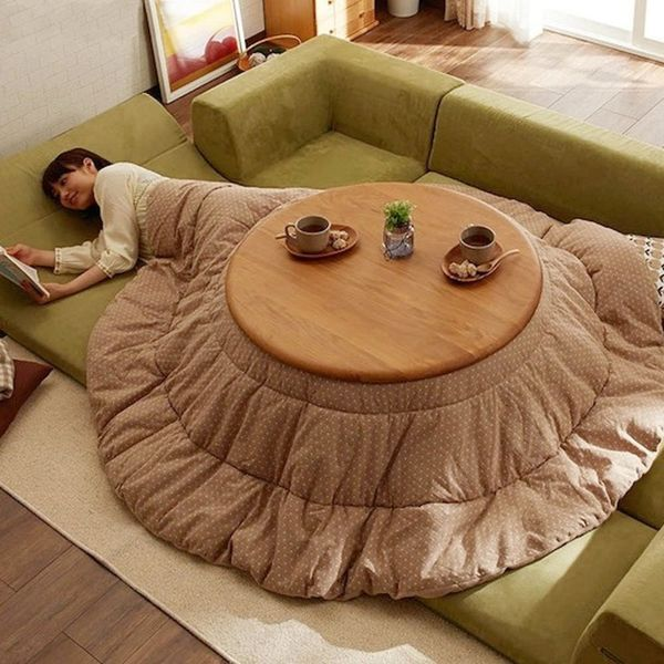 This Weird Japanese Blanket Table Wants to Give You the Best Nap EVER
