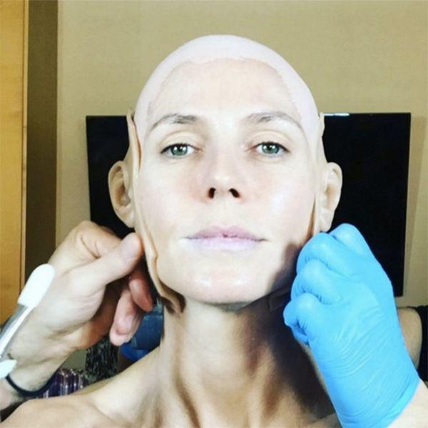 See Heidi Klum's Insane Jessica Rabbit Halloween Costume Transformation