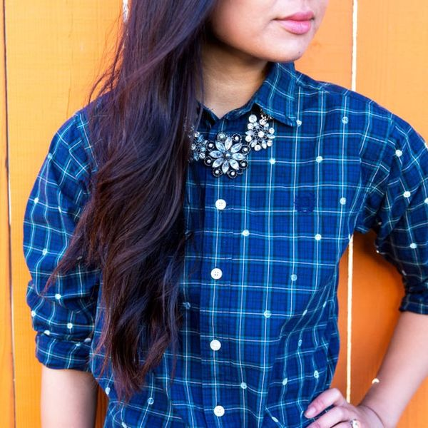 This No-Sew DIY Will Upgrade Your Plaid Shirt in Just 2 Steps