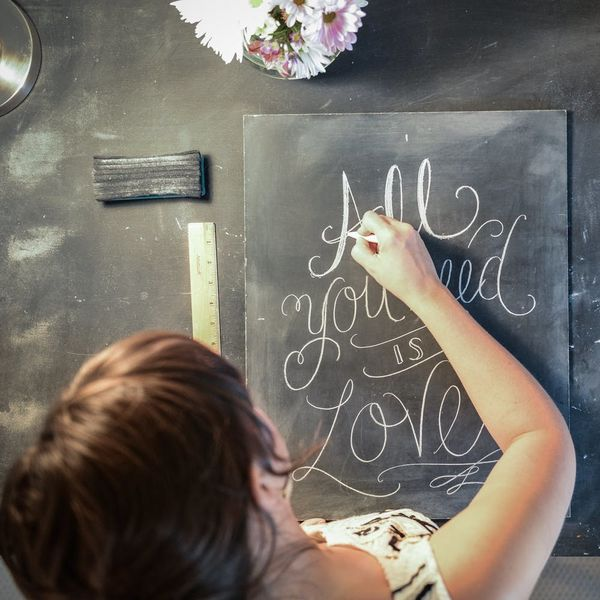 How to Do Your Own Chalk Wedding Signage like a Pro
