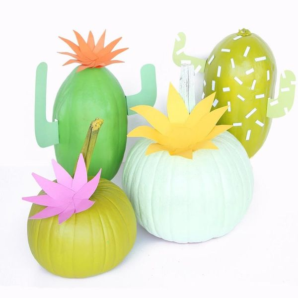 What to Make This Weekend: Cactus Pumpkins, a Marble Hanging Shelf + More