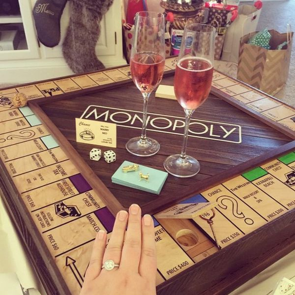 This Guy Proposed to His Fiancé With a Custom-Made Monopoly Board