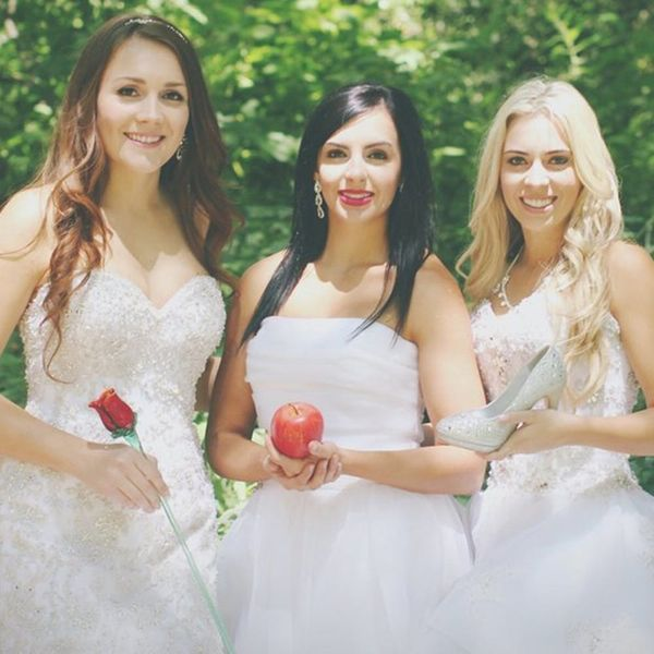 Meet the 3 BFFs Who Had the Most Magical Disney Bridal Shoot
