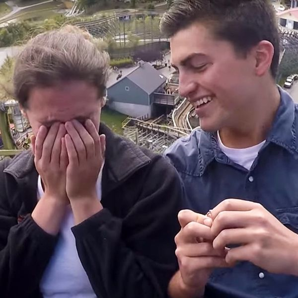 Watch This Couple Get Engaged on a Roller Coaster
