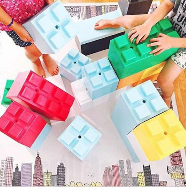 You Can Build Your Own Furniture With These Giant LEGO-like Blocks