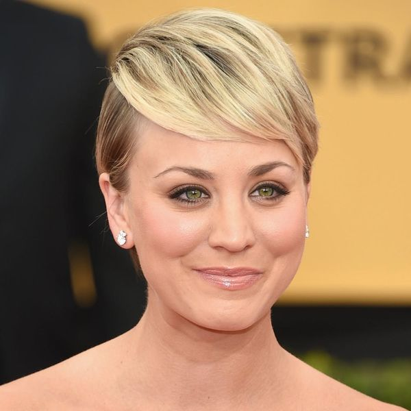 Kaley Cuoco Proves You Can Braid Your Hair Even If It's Short