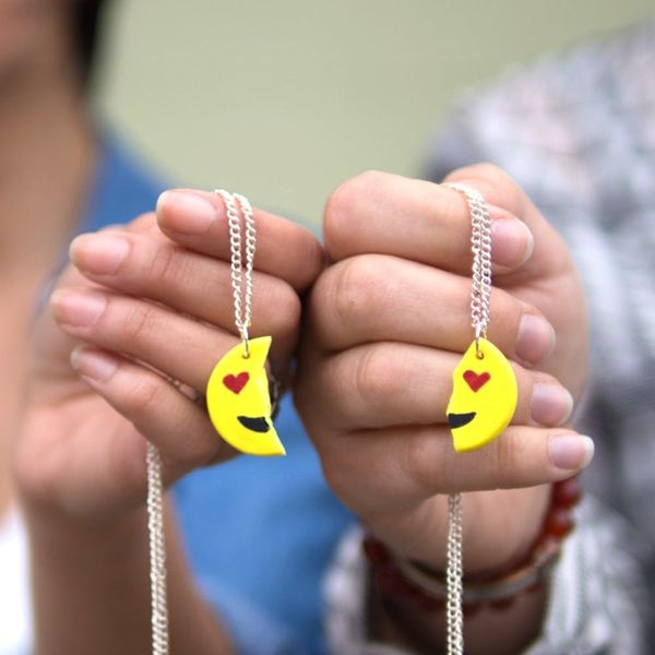 Show Your BFF Some Love With DIY Emoji Necklaces