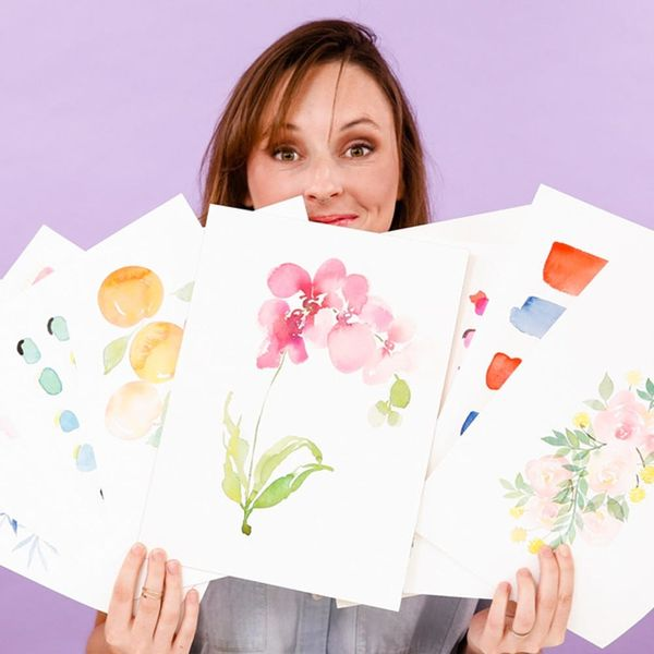 Learn How to Create Pretty Watercolor Designs (for Under $30!)