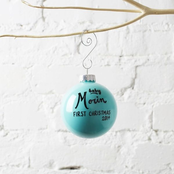 14 Customizable Ornaments for Your Baby's First Christmas