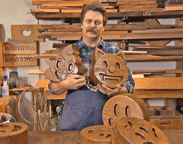 Nick Offerman Made You Some Handcrafted Wood Emoji